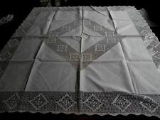 Mitteldecke Baumwolle Häkelspitze Handarbeit 100 x 103 cm