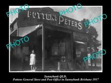 OLD LARGE HISTORIC PHOTO OF SUNNYBANK, BRISBANE QLD THE STORE & POST OFFICE 1937