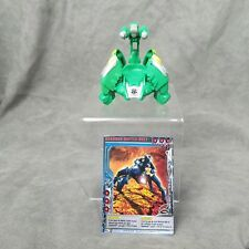 Bakugan Clawbruk Suit Green Toy Figure With Card