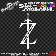 Zelda Sword Custom Vinyl sticker Truck Car Window NES Nintendo 3DS Link Switch