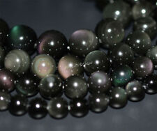 Natural AAA rainbow eye obsidian round beads strand 8mm to 20mm