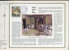 DOCUMENT CEF PREMIER JOUR  1970 TIMBRE N° 1653 DANSEUSE AU BOUQUET DE DEGAS