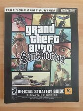 Grand Theft Auto San Andreas Official Strategy Guide Book - Good Condition