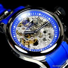 Invicta Russian Diver Skeleton Exhibition Blue 52mm Mechanical Rubber Watch New