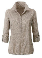 New Womans Dotty Taupe Blouse Plus Size 28 BNWT
