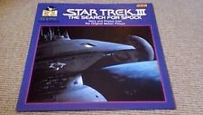 """STAR TREK III THE SEARCH FOR SPOCK 1st UK 12"""" MAXI-SINGLE BOOK & RECORD 1984"""