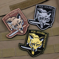 3 Pcs Usa Special Forces Groups Army Fox Hound Morale Badge Hook Patch