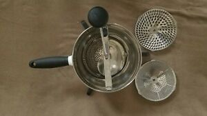 Oxo Good Grips Stainless Steel & White Food Mill with 3 Discs