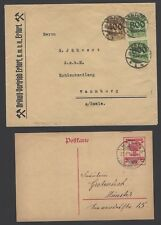 Germany Inflation 1921-3 collection of cards & covers (19)