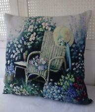 Old English Country Garden Shabby Chic Linen Blend Cushion Cover 45