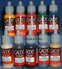 Vallejo Game Color Paint-Guerra Civile Inglese-bottiglia da 10 Set-Base d'Acqua