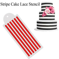 Making Stripe Fondant Mold Painting Stencil Cake Decorating Tools Lace Mold-