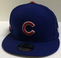 Chicago Cubs C New Era 9FIFTY MLB Royal Blue Snapback Hat Cap Flat Brim 950