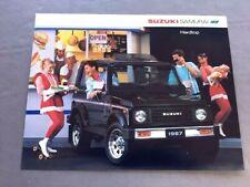 1987 Suzuki Samurai Hardtop Original 1-page Car Brochure Leaflet Card