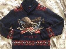 Men's Polo Ralph Lauren eagle knit sweater Medium