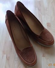 A.P.C. Rue Madame Paris heels/wedge size 7 brown leather