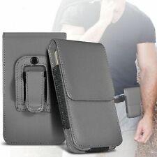 Grigio ✔ qualità un'ottima protezione verticale Cintura Telefono Custodia Case Cover