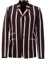 NEW MENS MADCAP BOATING BLAZER Mod Brian Jones 60s JACKET BLACK MC214 26664