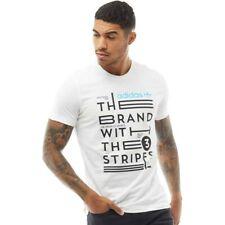Adidas Originals Herren Slogan T-Shirt Weiß Size M Trefoil