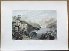 1842 Bartlett print UPPER LAKE, KILLARNEY, IRELAND (#12)