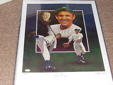 LEFTY GOMEZ SIGNED LITHO WITH CHRISTOPHER PALUSO ARTIST SIGNED JSA AUTHENTIC