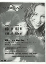 Angela Via Picture perfect Ultra Rare Trade Ad Poster 2000 Mint