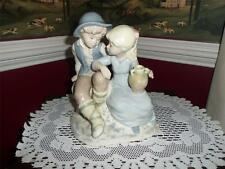 Rex Valencia Spain Porcelain Figurine  large piece boy and girl beautiful!