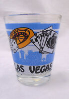 Las Vegas Nevada W/Dice Cards & Roulette Wheel Shot Glass