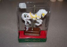New Vintage Christmas Carousel Horse Wood Stand Holiday Figurine Ornament