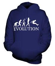 LONG JUMP EVOLUTION OF MAN UNISEX HOODIE MENS WOMENS LADIES GIFT ATHLETICS