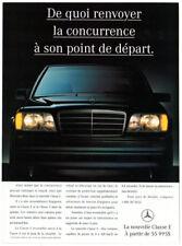 1994 MERCEDES E Class Vintage Original Print AD - Black car photo French Canada