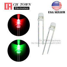 100pcs 3mm Water Clear Bi-color Red Green Light Blingking Flash LED Diodes USA