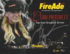 "2016 Leah Pritchett signed FireAde 2000 ""3rd Version"" Top Fuel NHRA postcard"