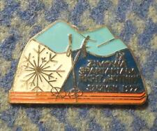 IX th SPARTAKIADE WINTER GAMES METALLURGISTS SKI SKIING POLAND SZCZYRK 1977 PIN