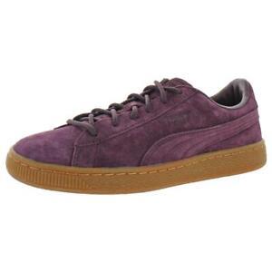 Puma Girls Basket Classic Winterized Jr Suede Low Top Sneakers Shoes BHFO 8389