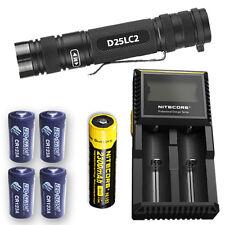 EagleTac D25LC2 XP-L Flashlight w/D2 Charger, NL183 & 4x Eco-Sensa CR123A