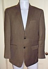 Chaps Ralph Lauren Wool Tweed Suit Jacket SportCoat Blazer Mens 38R Brown