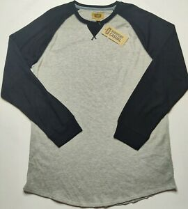 The Foundry Big & Tall Men's XLT Light Gray & Black Raglan Thermal Shirt NEW WD