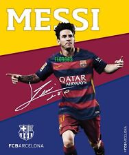 Licensed Lionel Messi Running Fc Barcelona Sherpa Lining Throw Blanket 50 X 60