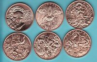Copper 4 Coins  GUNSLINGER Pony Express PROSPECTOR Can Can OLD WEST SET  1 oz