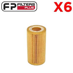 6 x WCO210 Wesfil Oil Filter - Audi A6, A7, Q7 + Amarok 3.0L T/Diesel - HU7012Z