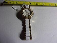 DKNY Ceramic Watch Ladies Goldtone & White