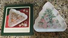 1993 Precious Moments Christmas Candy Dish With Box - Pre-owned