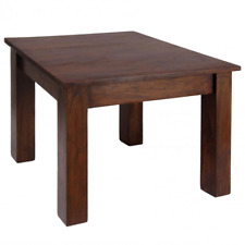 Dark Oak Finish Solid Acacia End Lamp Small Side Coffee Table