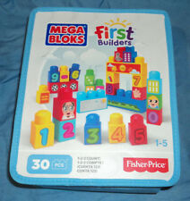 Fisher Price Mega Bloks First Builders 30 PCS Set, Learn To Count 1 2 3, New