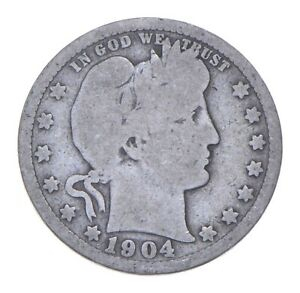 Better 1904 - US Barber 90% Silver Quarter Coin Collection Set Break *894