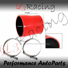 """RED 3""""-2.5"""" 76-63mm 3-ply Silicone Reducer Hose Turbo Intake Intercooler SB"""