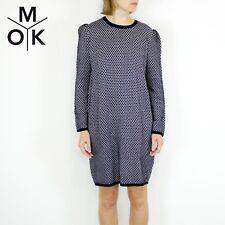 COS Kleid 38/M Strickkleid blau-weiß neu Muster Design New Damen Dress (1769)