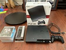 Sony PlayStation 3 PS3 Slim Console CECH-2001A 120GB New 6 Game Bundle Low Hours