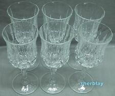 OPERA by ROYAL CRYSTAL ROCK Crystal Stemware Glasses Set 6 WATER GOBLETS